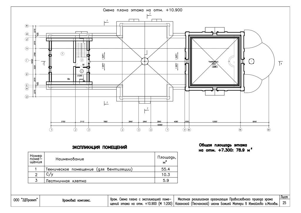 Схема этажа чердак